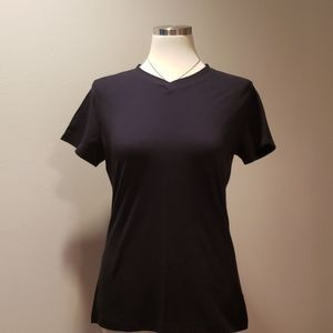 Basic Black V-Neck Short sleeve Tee-shirt